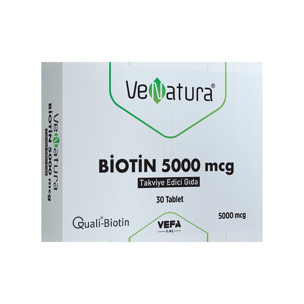Biotin 5000 mcg Takviye Edici Gıda